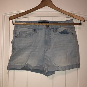 Light wash jean shorts from Aeropostale
